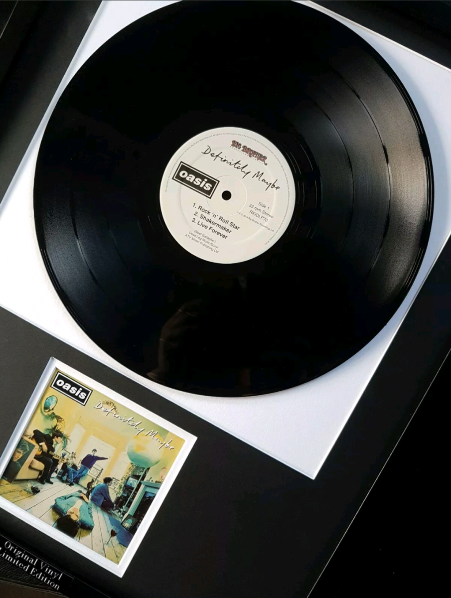 Icon Republic Oasis-Definitely Maybe Original Vinyl Album-Limited Edition-Liam Gallagher