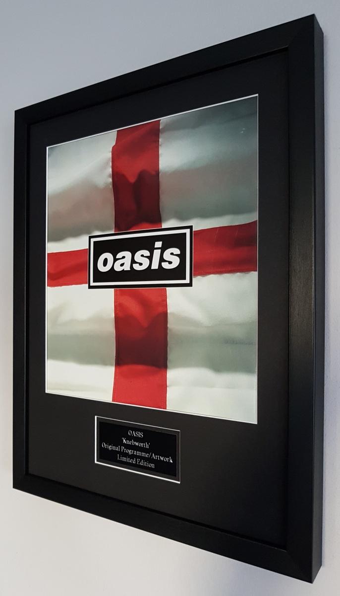 Oasis Framed Original Knebworth Programme 2 Icon Replubic